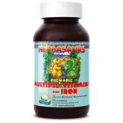 Витазаврики  жевательные витамины с железом | Herbasaurs